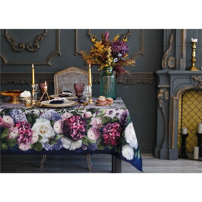 Set table Ethel Floral Etude, table cloth 110x150 cm, napkins 40x40 cm, 4 PCs, cotton 100% kilim print table cloth