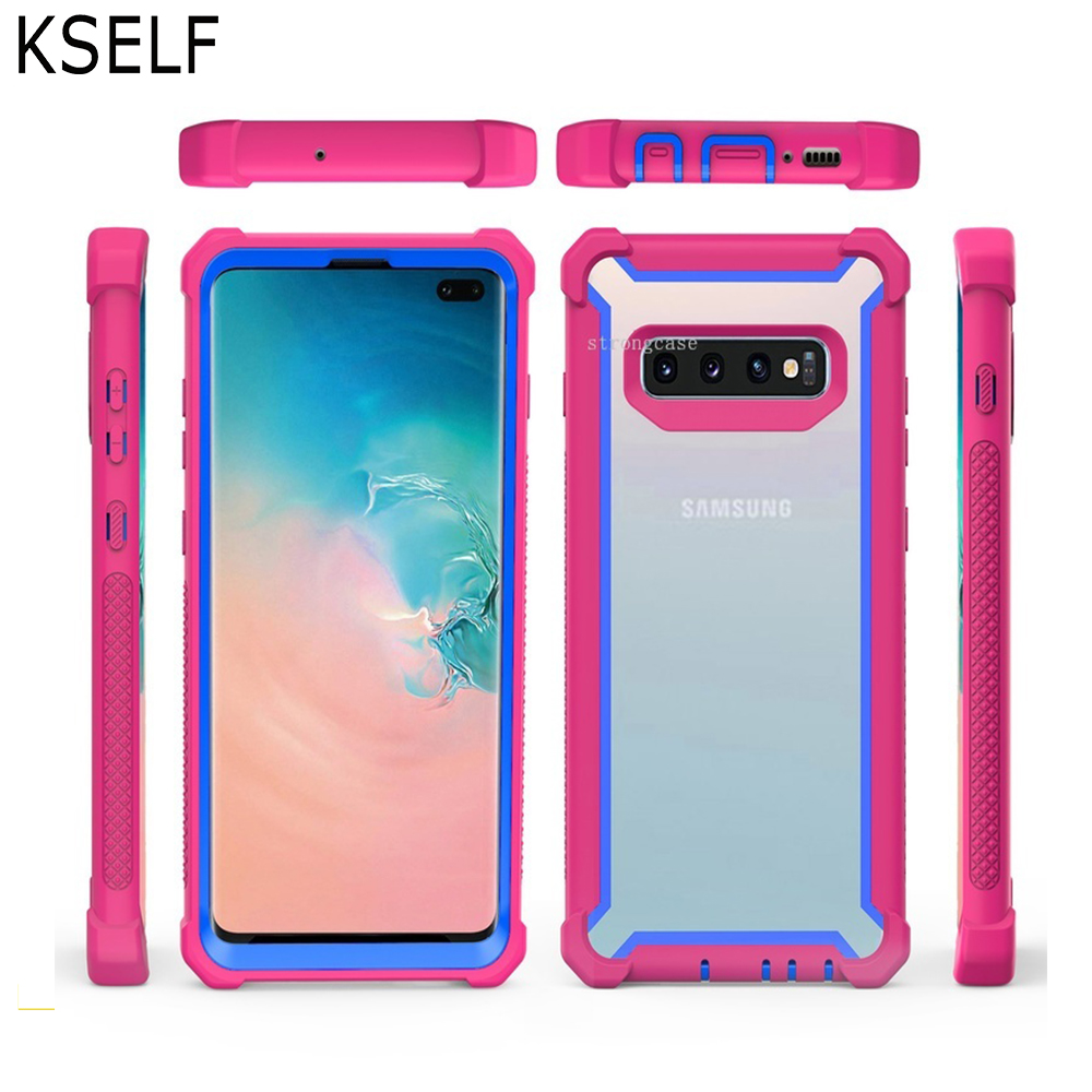 Luxury 360 Protective Shockproof Case For Samsung Galaxy S10 S10e S8 S9 Plus Note 9 Cover with Free Screen Protector Colorful