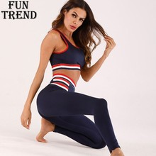 Sport Yoga Set Women Fitness Sport Suit 2 Pieces Workout Jogging Running Set Women Tracksuit Sports Bra+Legging Sportswear Women