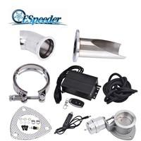 ESPEEDER 2.53.0 E cut Exhaust Cutout Valve Controller Set Vacuum Exhaust Cutout Electric Control Valve Kit With Vacuum Pump