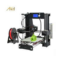 Heated Bed Anet A6/A8 3d Printer Big Printing Size 3D Used Printer Machine Reprap i3 DIY 3D Printing Kit With Roll of Filament