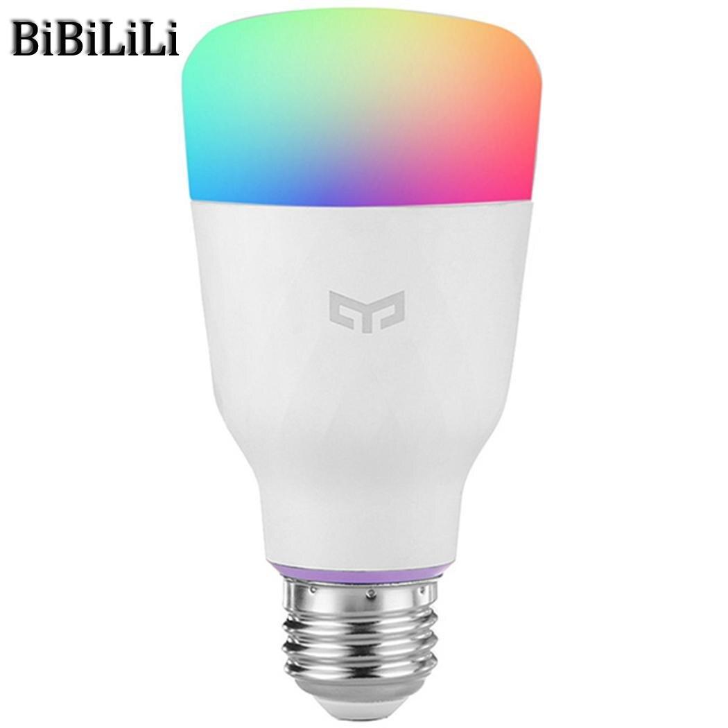 Offre spéciale! Xiao mi Yeelight RGB LED ampoule intelligente couleur E27/E26 ampoule commande vocale mi ampoules intelligentes téléphone télécommande