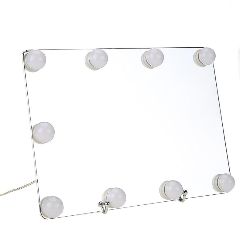 LED Touch Screen 9 Bulbs Dimmable LED Makeup Mirror For Dressing Table Big Size HD Vanity Make up Mirrors Cosmetic Tools Lights in Makeup Mirrors from Beauty Health