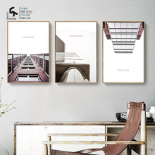 CREATE&RECREATE Modern Poster Architecture Wall Art Canvas Painting Building Posters And Prints Decoration Pictures CR1810114011