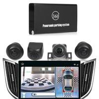 360 Degree Car Camera 720P HD Panoramic Rearview Car Camera DVR Recording ARM Night Vision Parking System Monitoring Camcorder