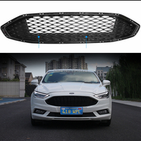 For Ford Mondeo 2017 2018 2019 ABS Plastic Front Grilles Shiny Black Lacquer Bake Front Mesh Grills Cover Protector Car Styling