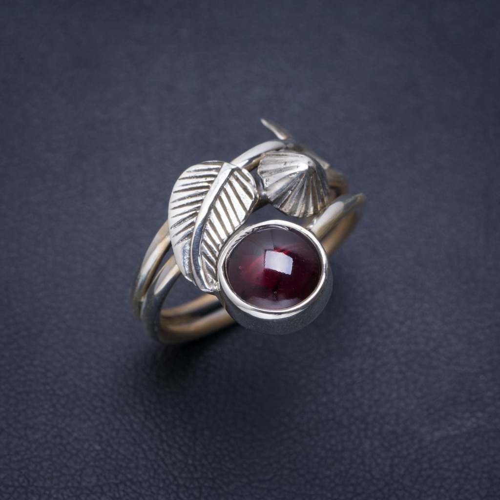 Natural Amethyst Handmade Unique 925 Sterling Silver Ring 7.5 A1104