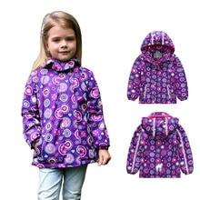 Демисезонные водонепроницаемые куртки для девочек, флисовые пальто для девочек, детские спортивные куртки, Двухуровневая куртка, 6299