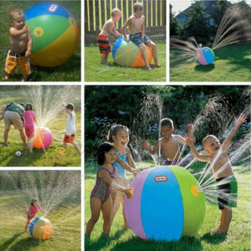 3 Years+ Unisex Funny Novelty Modish Outdoor Inflatable Water Spray Ball Sprinkler Splash Kids Lawn Swim Garden Toy