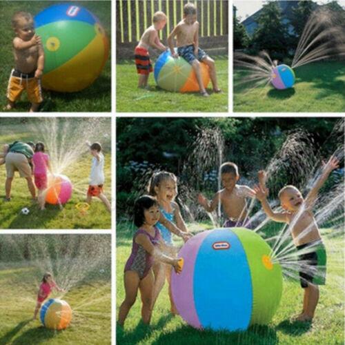 3 Years+ Unisex Funny Novelty Modish Outdoor Inflatable Water Spray Ball Sprinkler Splash Kids Lawn Swim Garden Toy