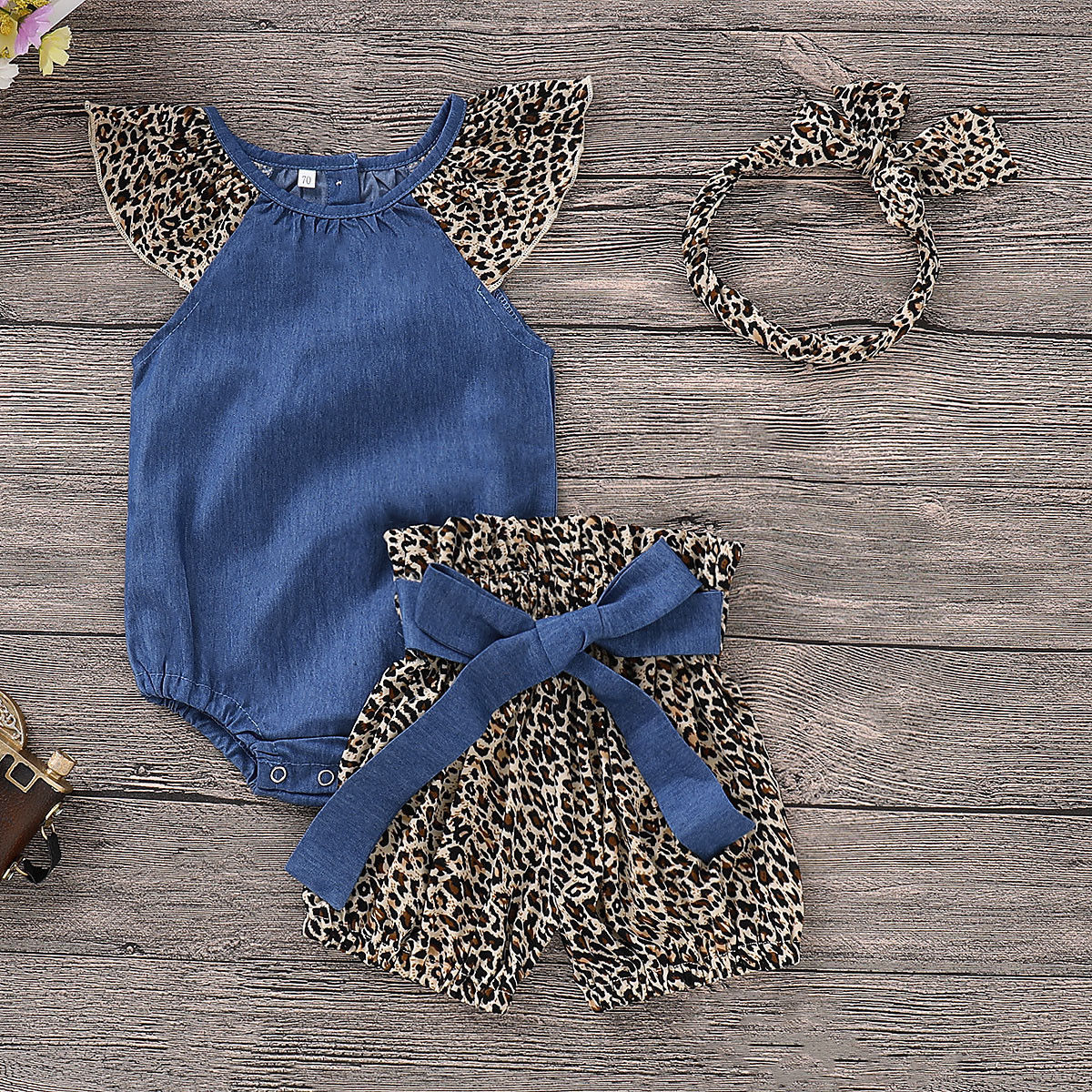 Pudcoco Girl Set 0-24M Toddler Kids Baby Girls Clothes Romper Tops+Pants/Shorts+Headband Outfits Sets