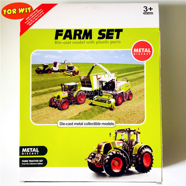Diecast Farmer Toy Vehicles, Die-cast Metal Collectible Models Car, Farm Tractors Planters Trailers Play Set, Collect Them All