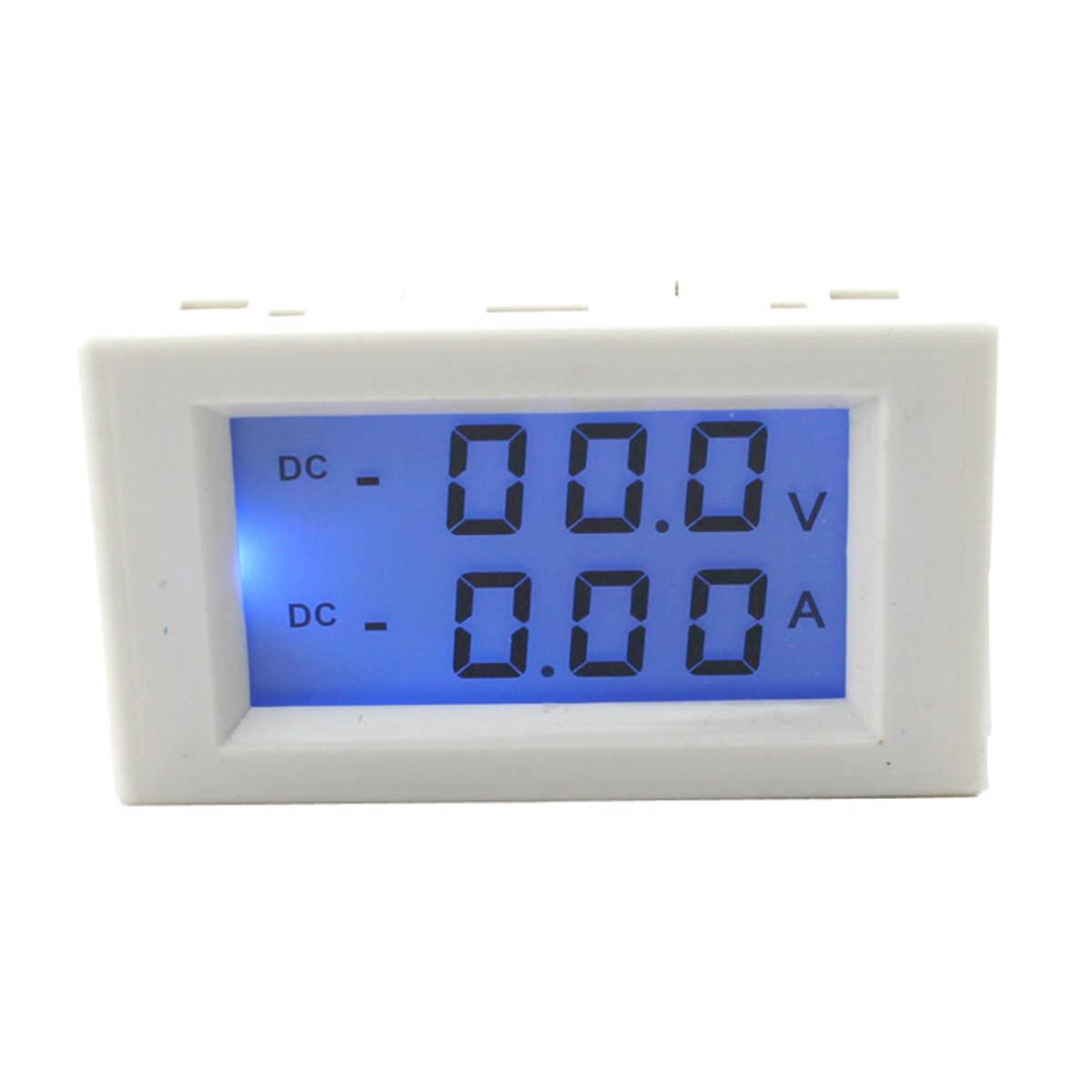 D85-3050 DC 0-200 V 10A voltmètre numérique ampèremètre LCD panneau Volt ampèremètre jauge blanc