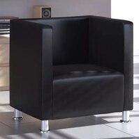 VidaXL кресло в Куб Дизайн искусственная кожа черный Искусственная обивка и высокое качество металлические ножки диваны
