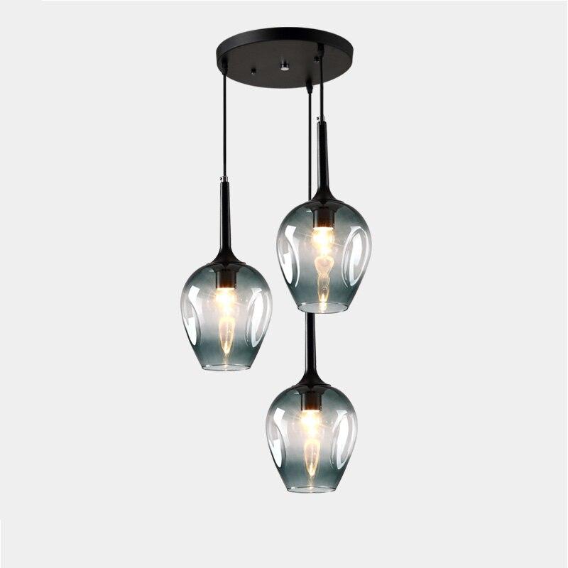 Us 15225 13 Offpostmodernistyczna Szklane Lampy Wiszące Do Studio Oprawa Nowość Szklana Pokrywa Schody Oświetlenie Centrum Handlowe Czarny
