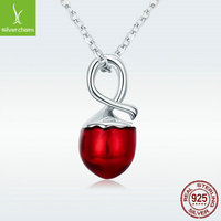 Summer Collection 925 Sterling Silver Summer Fruit Hazelnut Pendant Necklaces For Women Sterling Silver Jewelry