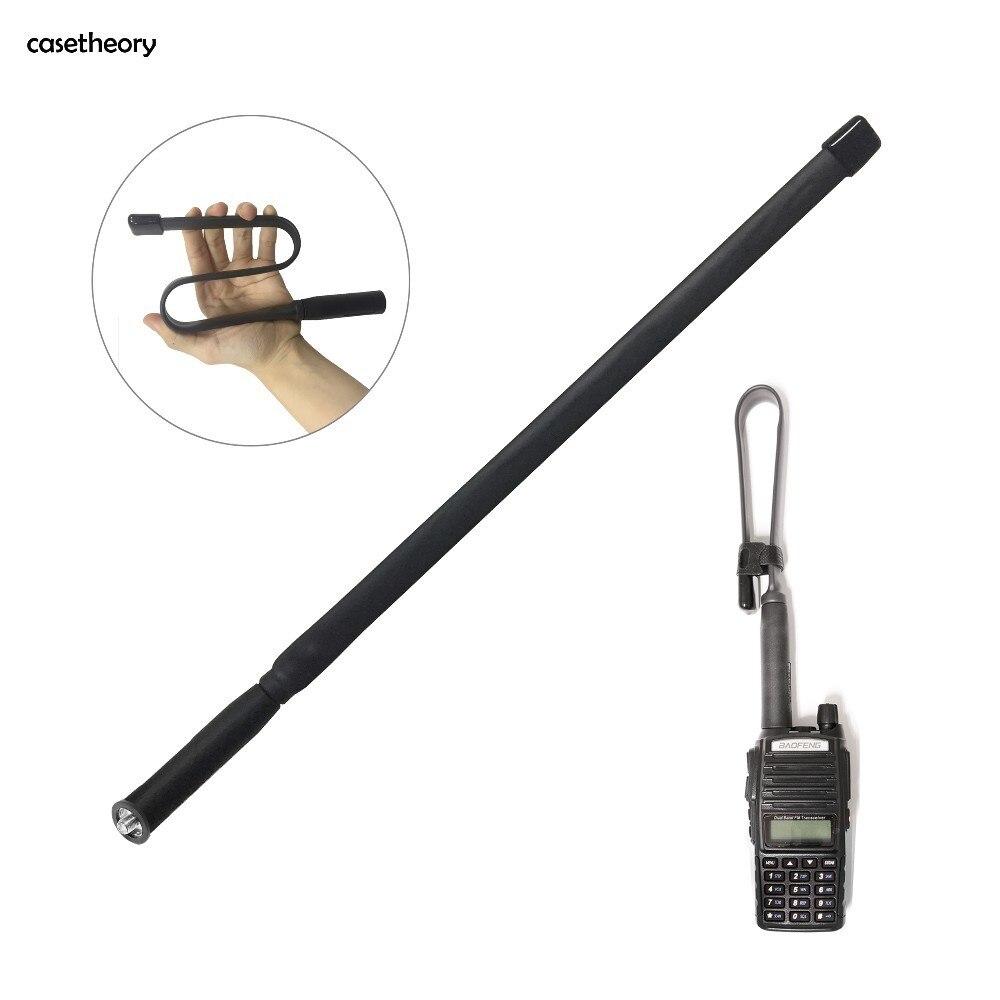 Casetheory Faltbare CS Taktische Antenne SMA-Weibliche Dual Band VHF UHF 144/430 Mhz Verstärkung Herrscher Für Walkie talkie Baofeng UV-82 UV-5R