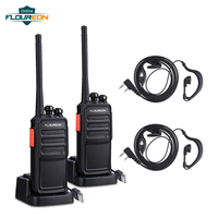 2pcs A5 16 Channel Walkie Talkie PMR 446MHZ Two Way Radio Intercom Transceiver Handheld Interphone with Earpiece USB Charging