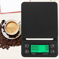 Портативные 5 кг/0,1 г капельные кофейные весы с таймером Электронные Цифровые Кухонные высокоточные весы ЖК электронные весы