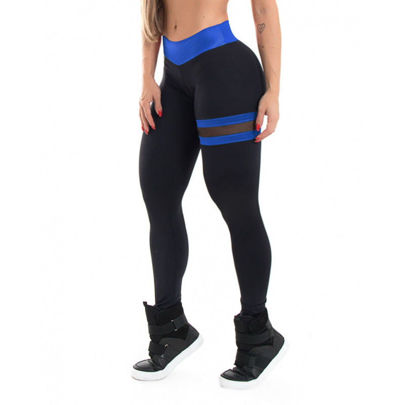 Image 2 - SVOKOR Push Up Leggings Women Gothic Fitness Clothing Workout Mesh High Waist Pants Female Breathable Patchwork Sportswear-in Leggings from Women's Clothing