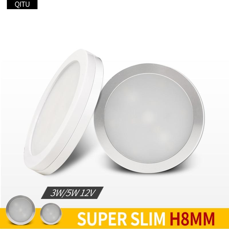 12V Ultra-thin Small Spotlights Cabinet Lights Spot Home Display Stand Window Display LED Focus Panel Light 3W Mini Downlight