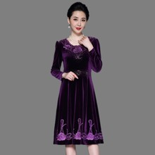 Women Spring Autumn Casual Long Sleeve Vintage Floral Embroidery Dress O-neck Elegant Party Dresses Vestidos Plus Size M-7XL цены