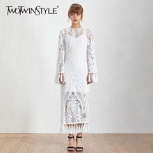 Sleeve Embroidery Neck Ankle