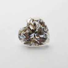 3*3mm Heart Cut DEF White Moissanite Stone Loose Moissanite Diamond 0.1 carat for Ring(China)