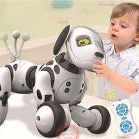 새로운 프로그래밍 가능한 2.4g 무선 원격 제어 스마트 로봇 개 키즈 장난감 지능형 말하는 로봇 개 장난감 전자 애완 동물 아이 선물