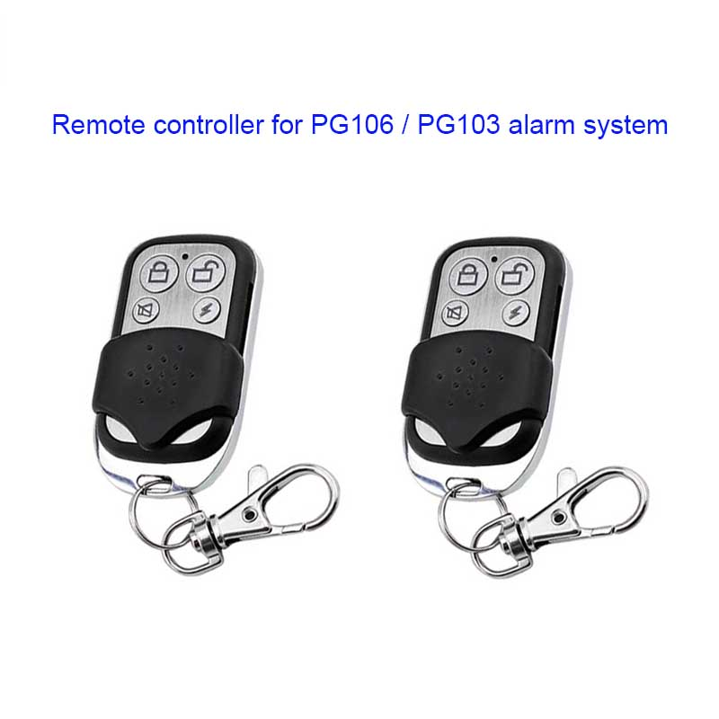 2 PCS PG103,PG105,PG106 Remote Controller With Sliding Closure,metal Keyfob,distance Controller For PGST WIFi 3G GSM Alarm Sytem