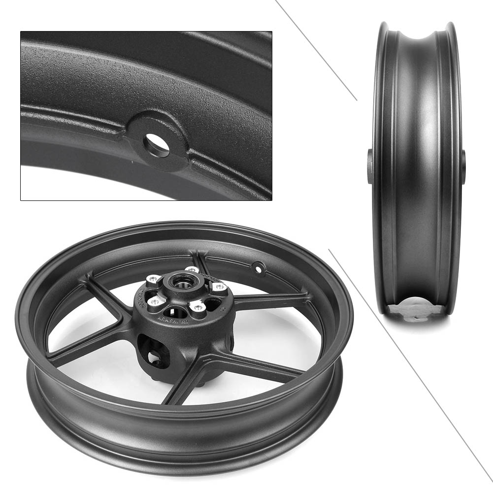 Motorcycle Aluminum Front Wheel Rims For Kawasaki Ninja ZX10R 400 ER 6N/F Versys 650 Z1000SX Z800 Z1000 Z750/S ER4N Matte Black