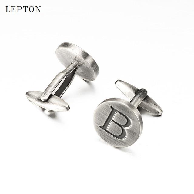 Фото запонки lepton в с буквами алфавита для мужчин классические