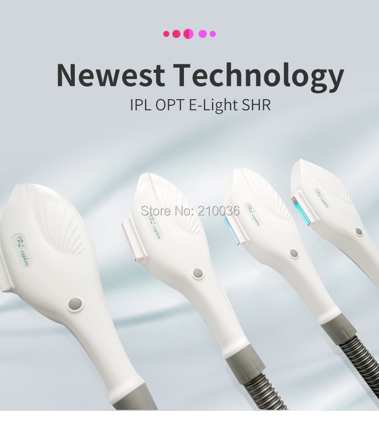 fixed wavelength SHR IPL handle 10*50mm spot size with best lamp and high energy