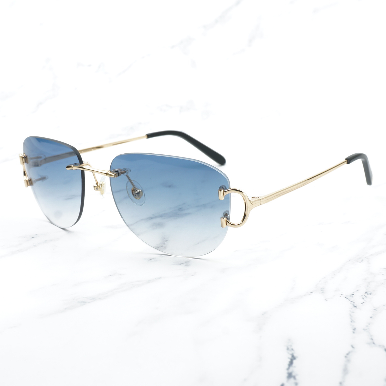 Image 2 - Vintage Pilot Sunglasses for Men Retro Carter Glasses Frame for Women A3 Wholesale Men Sunglass Promotion Female Glass Shades-in Women's Sunglasses from Apparel Accessories