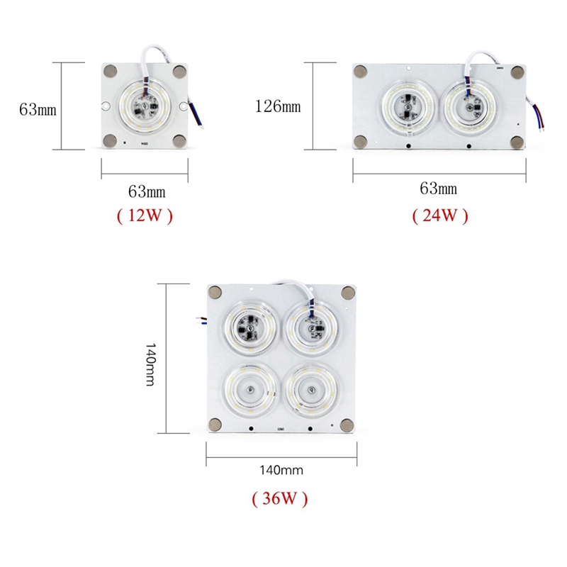 Celling Lamp Lighting Source AC220V 12W <font><b>24W</b></font> 36W <font><b>LED</b></font> Ceiling Panel <font><b>Module</b></font> Indoor White Light Source Replace Plate Magnetic Lamp image