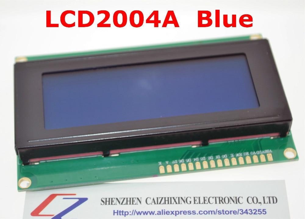 Бесплатная доставка LCD плата 2004 20*4 LCD 20X4 5V синий экран LCD 2004 LCD модуль LCD 2004 для arduino