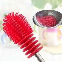 Новинка для мытья чистки Вращающаяся ручка длинная ручка Чистящая Щетка для бутылочек