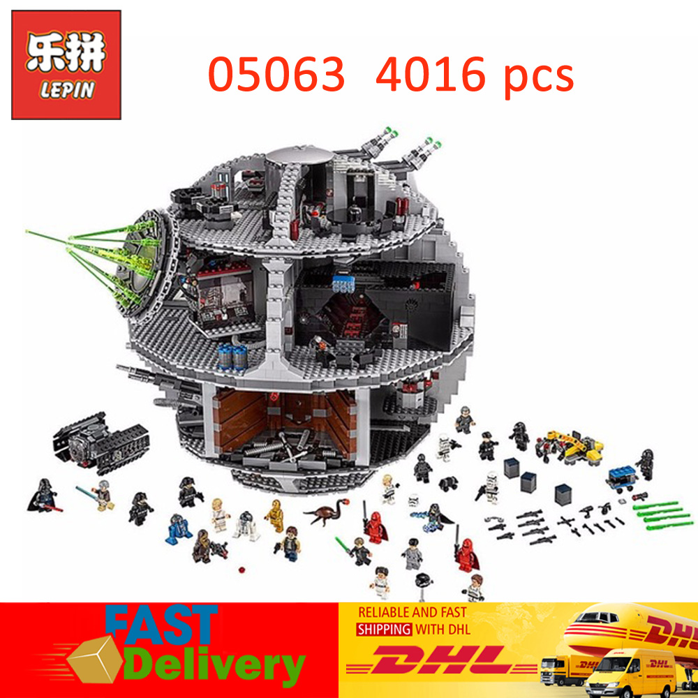 Lepin Star Wars Lepin 05063 The Death UCS Star Model Block Bricks Toys for Children Christmas Gifts Compatible LegoINGlys 75159
