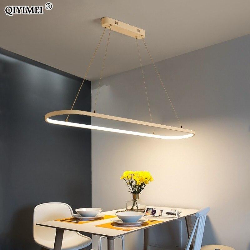 Rectangle Modern Led Pendant Lamps for Living Room Restaurant Bedroom Decorative Pendant Light Lamparas AC85-260V remote control