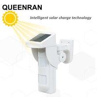 2pcs Wireless WIFI Alarm G90B Outdoor Motion Sensor Solar Powered External Weatherproof Pet Friendly PIR Detector with 2 PIR