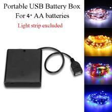 2018 Best DC5V Portable Mini AA Battery Holder Storage Box C