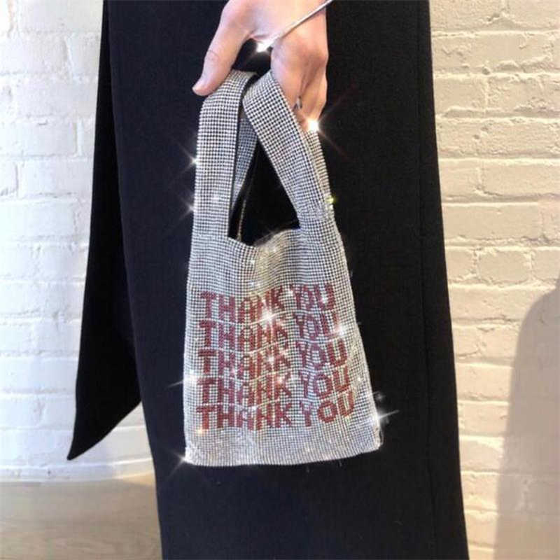 Women Famous Brand Rhinestone Designer Hand Bags 2019 Bling Bling Diamonds Ladies Clutch Bag Luxury Party Small Phone Bag