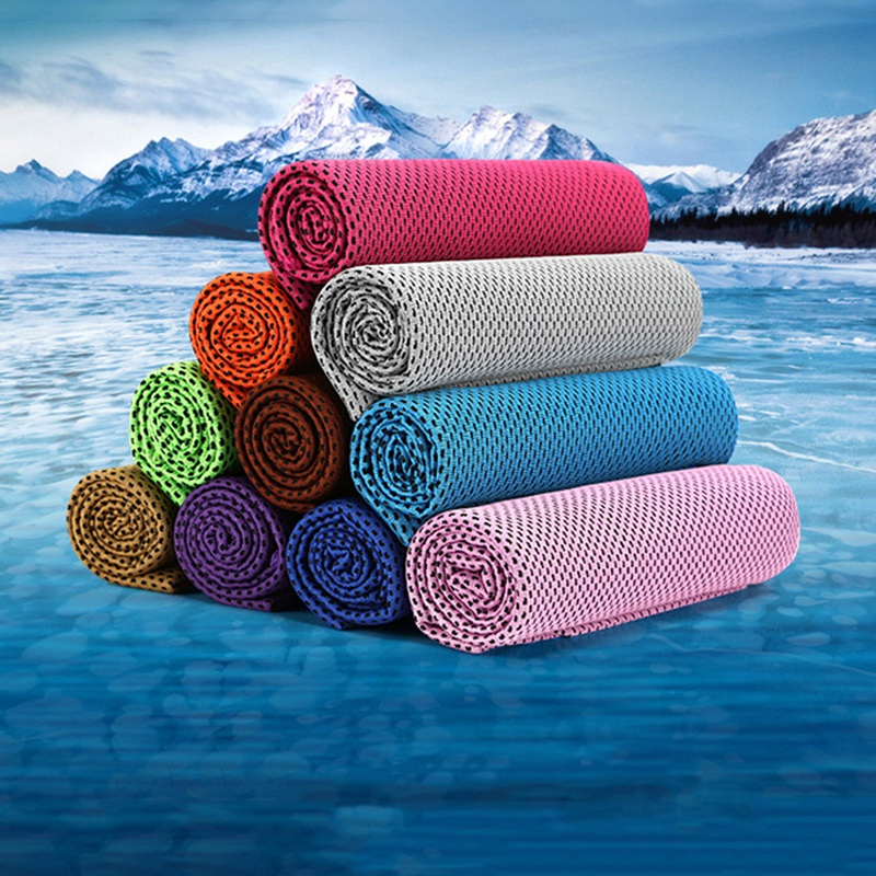 Summer Ice Cold Cool Towels Cooling Towel for Sport Running Jogging Gym Getting Cool After Putting the Towel Into Water 30cm in Sport Towels from Home Garden