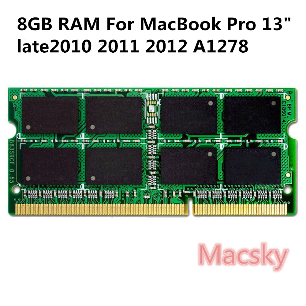 Original A1278 Laptop Memory 8GB RAM 1600MHz PC3-12800  For MacBook Pro 13