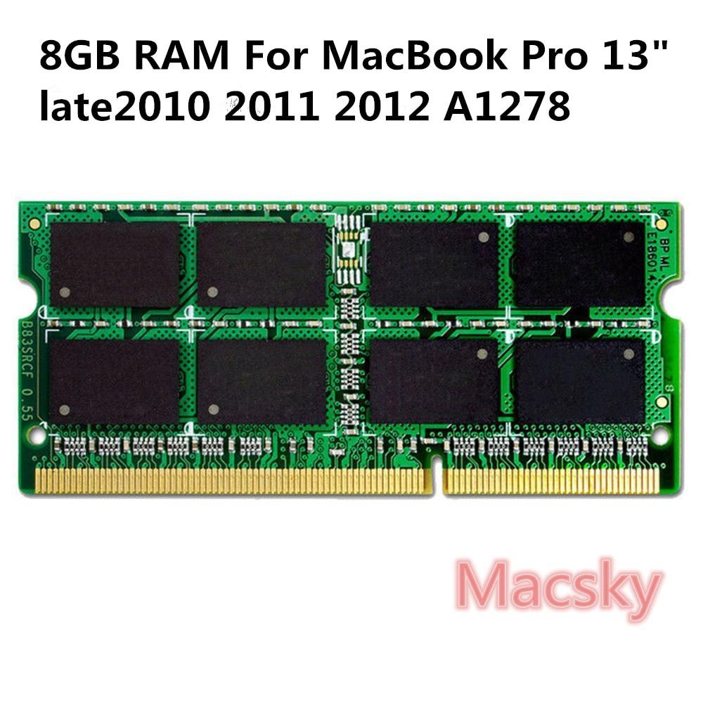Original Laptop Memory 8GB RAM 1600MHz PC3-12800 DDR3L Memory for MacBook Pro 13 A1278 Late 2010 2011 2012 A1278 A1418 A1419Original Laptop Memory 8GB RAM 1600MHz PC3-12800 DDR3L Memory for MacBook Pro 13 A1278 Late 2010 2011 2012 A1278 A1418 A1419