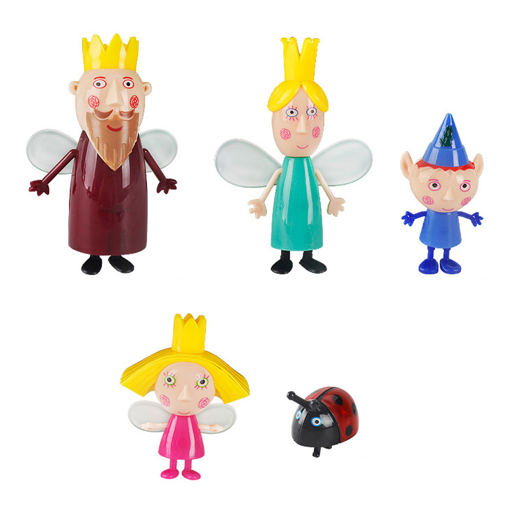 10pcs/Set Ben And Holly Little Kingdom Anime Action Figures Toy Kawaii Cartoon Toys For Children's Kid's Birthday Party Gift J04
