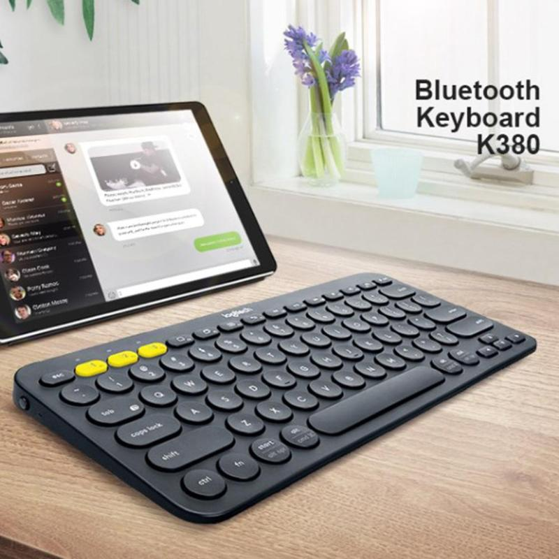 Image 2 - Logitech K380 Multi Device Bluetooth Wireless Keyboard for Mac  Chrome Windows Ultra thin Tablet Keypad for iPhone iPad  AndroidKeyboards