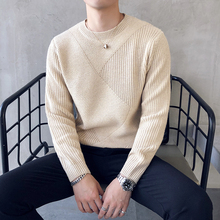 2018 Round Neck Solid Color Rendering Unlined Upper Garment Sweater cardigan men Wire Dress Men's Free shipping