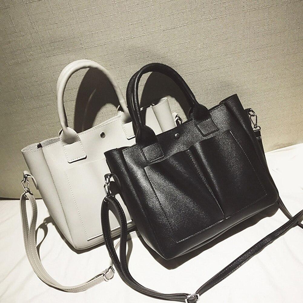 Pu Leather Bag Simple Handbags Famous Brands Women Shoulder Bag Big Trunk Tote Vintage Ladies Crossbody Bags for women