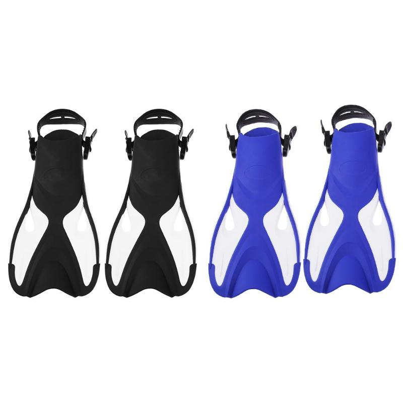 1 Pair Adult Silicone Swim Fins Swimming Diving Snorkeling Foot Flippers